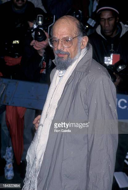 Poet Allen Ginsberg attends the screening of The Portrait of a Lady on December 7 1997 at the United Artists Theater in New York City