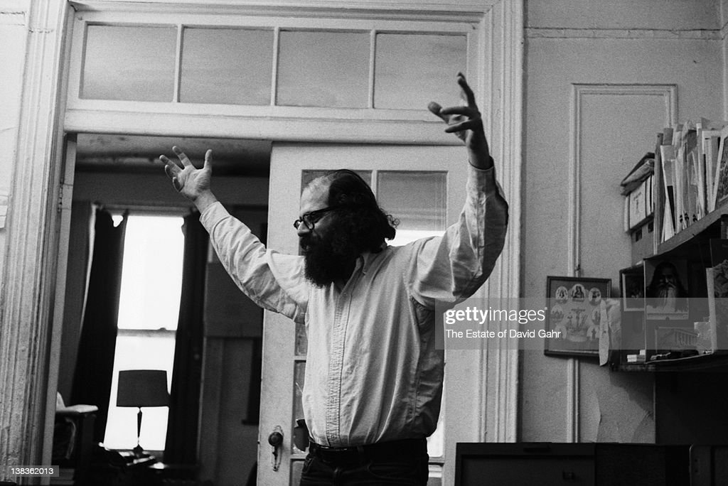 Poet Allen Ginsberg poses for a portrait at home on May 31, 1969 in New York City, New York.