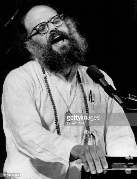 Poet Allen Ginsberg Reads from his Works at University of Colorado He is in boulder this ***** his poems teaching visiting CU classrooms and...