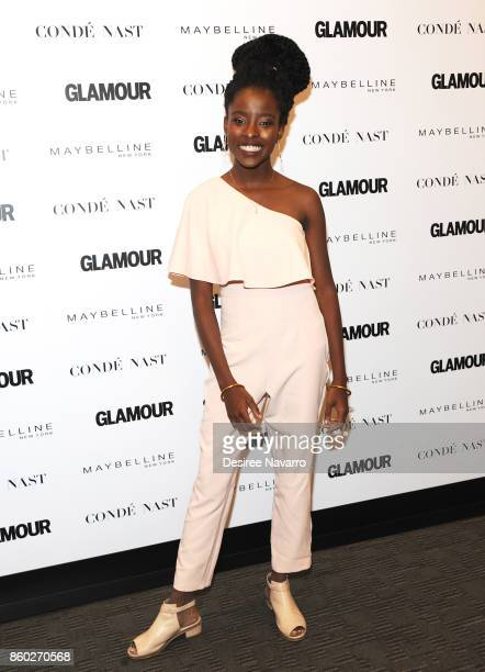 Poet Amanda Gorman attends 2017 Glamour International Day Of The Girl Rally at Merkin Concert Hall on October 11 2017 in New York City