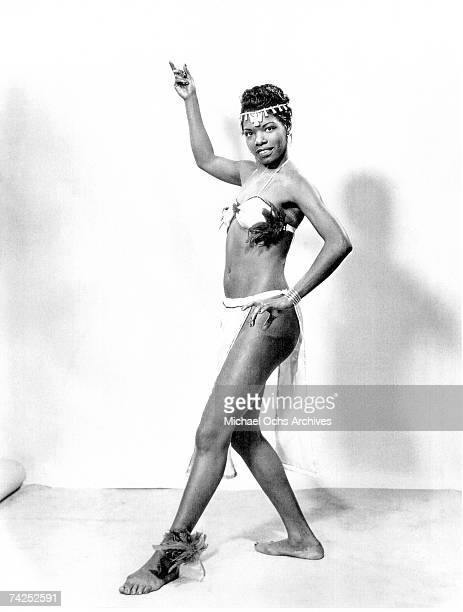 Poet and dancer Maya Angelou poses for a portrait in circa 1950.