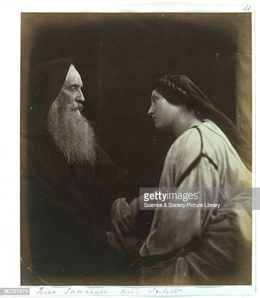 Poet and dramatist Henry Taylor and servant Mary Ann Hillier as characters from Shakespeare's 'Romeo and Juliet' Photograph by Julia Margaret Cameron...
