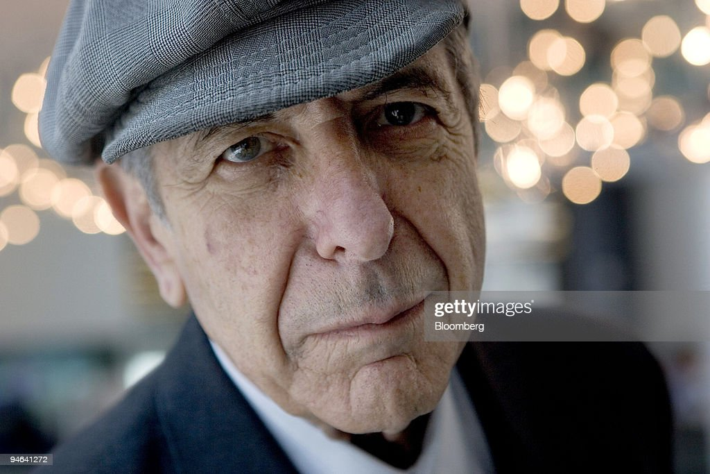 Poet and musician Leonard Cohen poses in New York on Thursday, May 18, 2006.