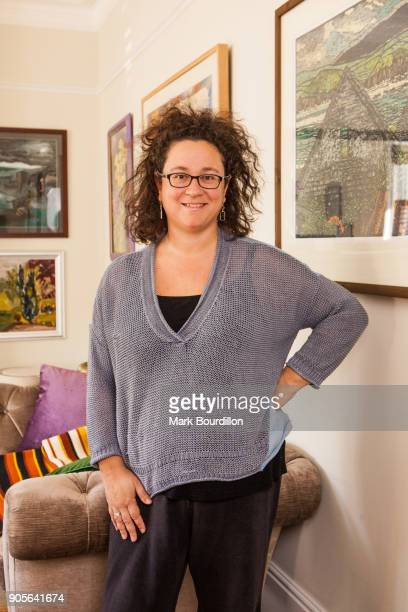 Poet and novelist Sophie Hannah is photographed for the Sunday Times on March 31 2017 in London England