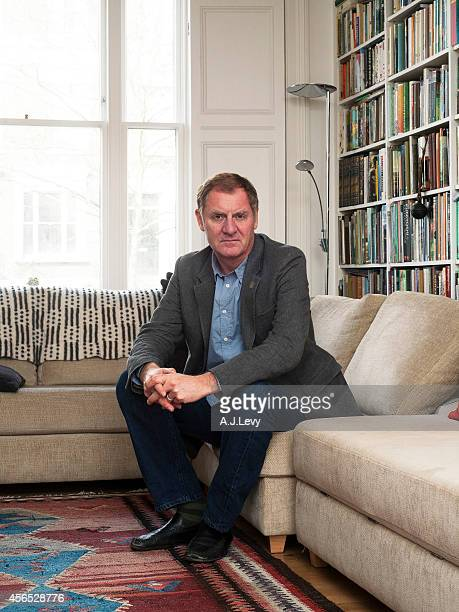 Poet Andrew Motion is photographed for the Telegraph in London England