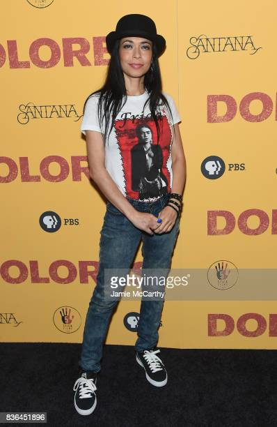 Poet Caridad De la Luz attends the 'Dolores' New York Premiere at The Metrograph on August 21 2017 in New York City