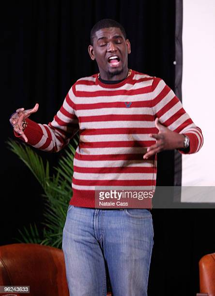 Poet Carvens Lissaint performs at the Cinema Cafe On Art And Culture during the 2010 Sundance Film Festival at Filmmaker Lodge on January 28 2010 in...