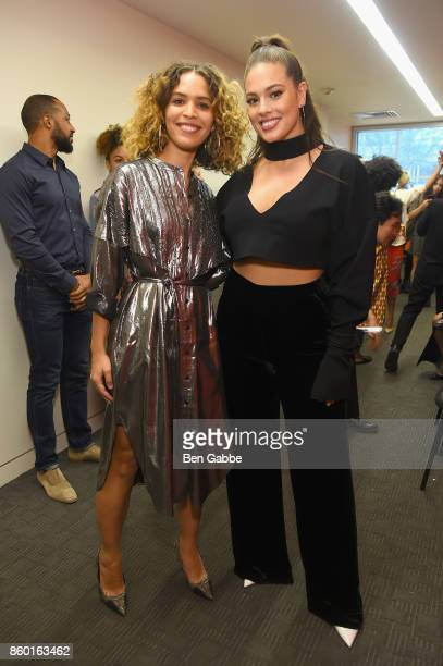 Poet Cleo Wade and model Ashley Graham attend Glamour's 'The Girl Project' on the International Day of the Girl on October 11 2017 in New York City