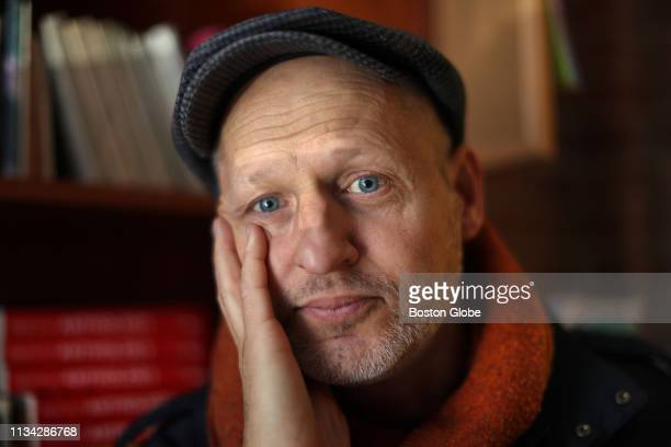 Poet Daniel Johnson author of the verse that would be engraved on memorials to the victims of the Boston Marathon bombings poses for a portrait in...