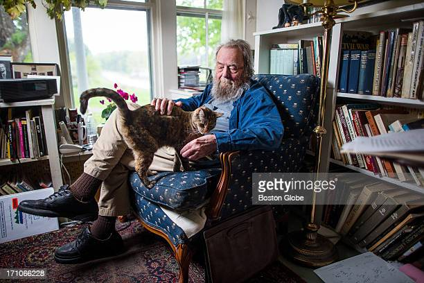 Poet Donald Hall poses for a portrait at his home in Wilmot NH The home belonged to his greatgrandparents and was built in 1803