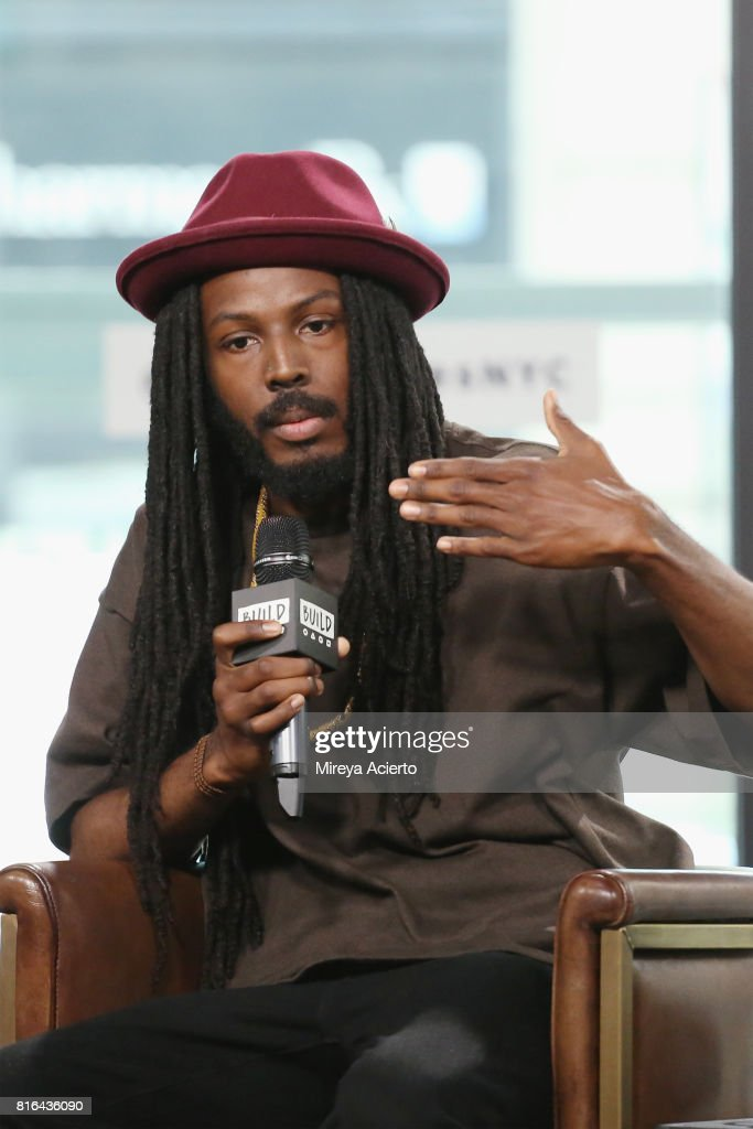 Poet Donte Clark visits Build to discuss the film, 'Romeo Is Bleeding' at Build Studio on July 17, 2017 in New York City.
