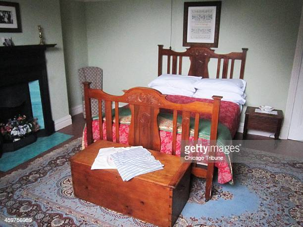 Poet Dylan Thomas was born in this room at a home in Swansea Wales in 1914