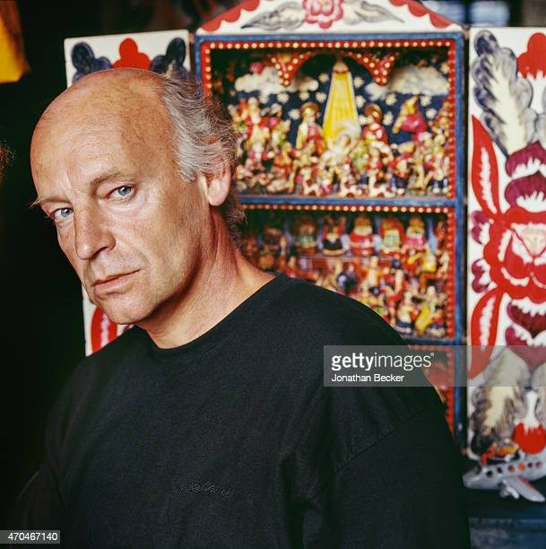 Poet Eduardo Galeano is photographed for Town Country Magazine on January 15 1992 in Montevideo Uruguay PUBLISHED IMAGE