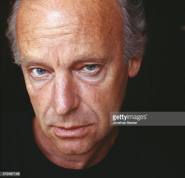 Poet Eduardo Galeano is photographed for Town Country Magazine on January 15 1992 in Montevideo Uruguay