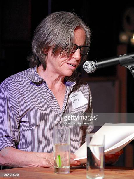 Poet Eileen Myles reads at the Free Pussy Riot Public Reading at Liberty Hall at Ace Hotel on August 16 2012 in New York City