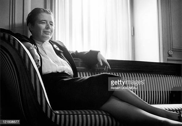 Poet Essayist And Novelist Marguerite Yourcenar In 1951