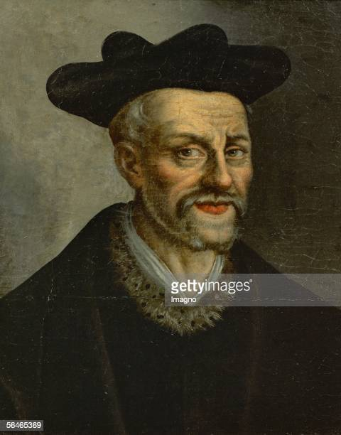 Poet Francois Rabelais Canvas From A Anonymous French Painter Musee National Du Chateau Versailles France