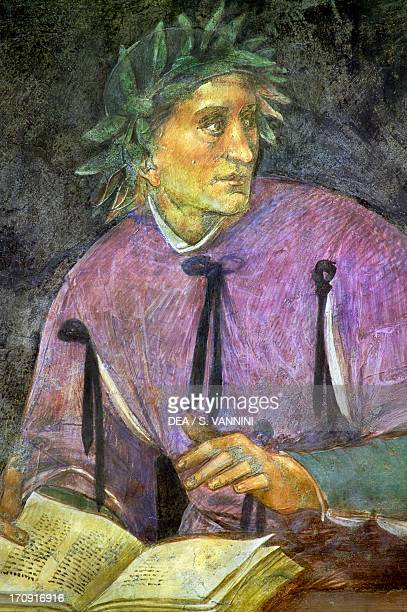A poet from the Illustrious people cycle 14991504 by Luca Signorelli fresco lower wall panels of San Brizio Chapel right transept of Orvieto...