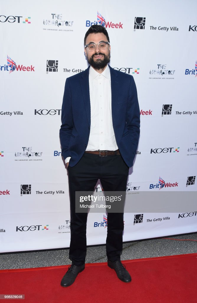 Poet Gabriele Tinti attends BritWeek at The Getty Villa on May 8, 2018 in Pacific Palisades, California.