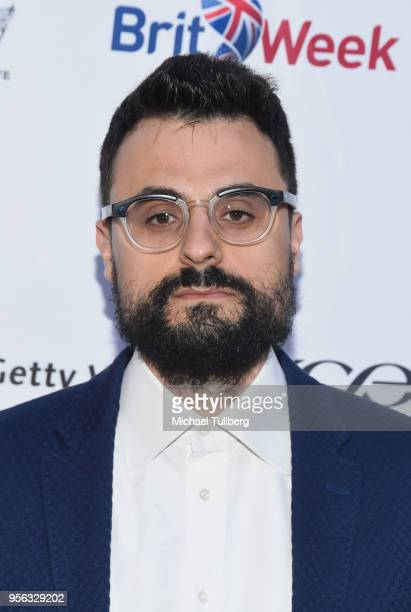 Poet Gabriele Tinti attends BritWeek at The Getty Villa on May 8 2018 in Pacific Palisades California