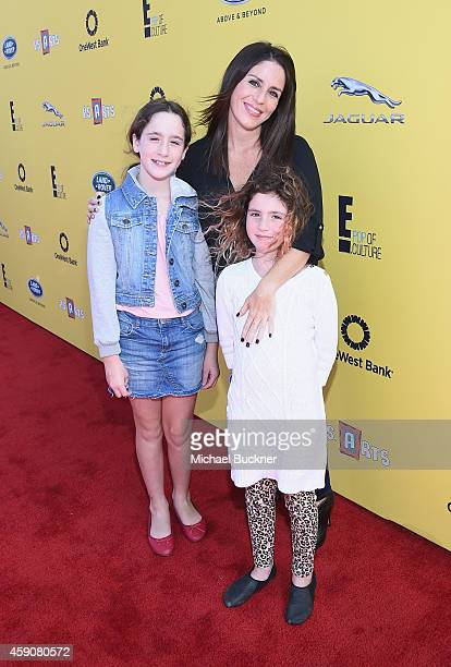 Poet Goldberg actress Soleil Moon Frye and Jagger Goldberg attend PS ARTS presents Express Yourself 2014 with sponsors OneWest Bank and Jaguar Land...
