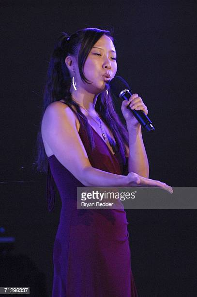 """Poet Ishle Park performs onstage during V-DAY's """"Its Hard Out Here For a Girl"""" event, part of """"UNTIL THE VIOLENCE STOPS: NYC Festival"""", at the..."""