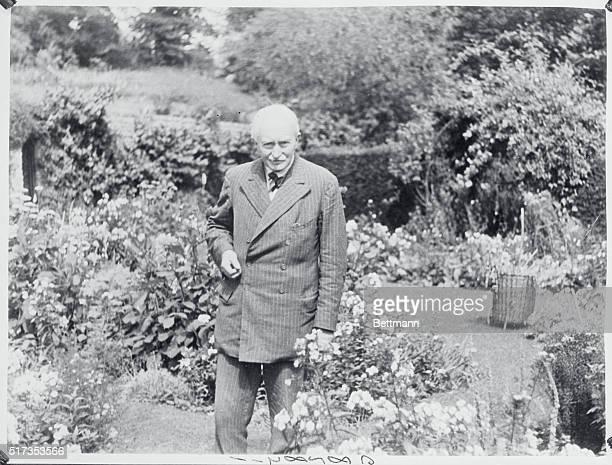 Poet Laureate James Masefield of England