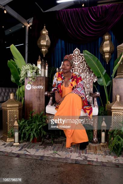 Poet Mahogany Browne attends Spotify Honors Black Female Creatives For Black History Is Happening Now Campaign on October 22 2018 in Santa Monica...