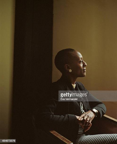Poet Patience Agbabi is photographed for the Telegraph on April 10 2014 in London England