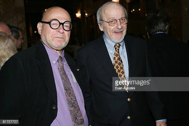 Poet Richard Howard and writer EL Doctorow attend The Paris Review Foundation Presents Fall Revel Honoring William Styron at Cipriani November 10...