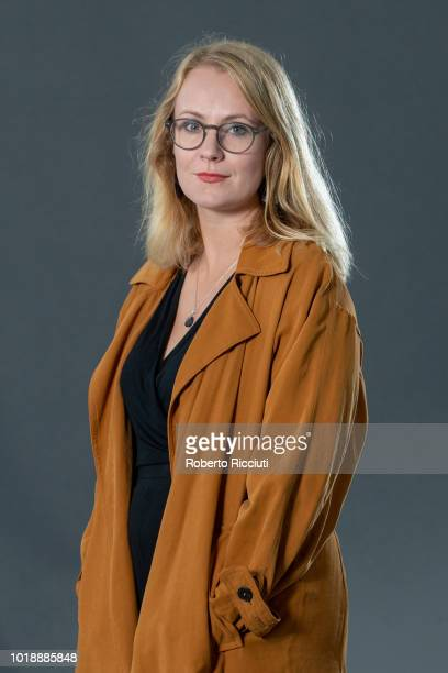 Poet scriptwriter and theatremaker Molly Naylor attends a photocall during the annual Edinburgh International Book Festival at Charlotte Square...