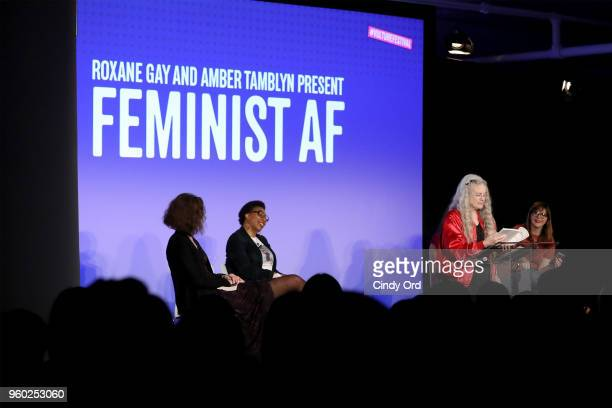 Poet Sharon Olds speaks onstage during Vulture Festival presented by ATT ROXANE GAY AND AMBER TAMBLYN PRESENT FEMINIST AF at Milk Studios on May 19...