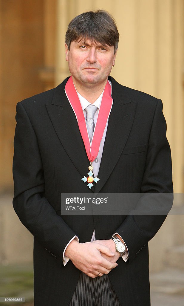 Poet Simon Armitage after he was awarded his Commander of the British Empire (CBE) medal from the Prince of Wales at an investiture ceremony at Buckingham Palace, November 19, 2010 in London.