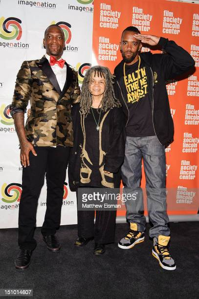 """Poet Sonia Sanchez and Stic.man of Dead Prez attend the """"Soul Food Junkies"""" New York Premiere with performance by Dead Prez at The Film Society of..."""