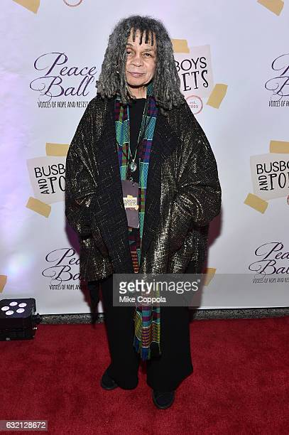 Poet Sonia Sanchez attends the Busboys and Poets' Peace Ball Voices of Hope and Resistance at National Museum Of African American History Culture on...