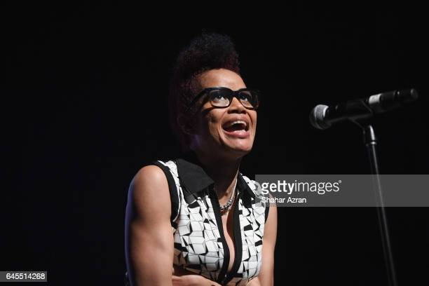 Poet Staceyann Chin attend AFROPUNK'S Unapologetically Black THE AFRICANAMERICAN SONGBOOK REMIXED at The Apollo Theater on February 25 2017 in New...