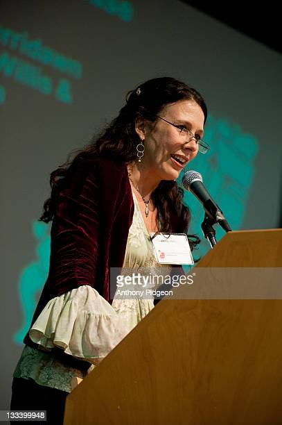 Poet Wendy Willis speaks onstage at the 2011 Wordstock Literary Festival at the Oregon Convention Center on October 9 2011 in Portland Oregon