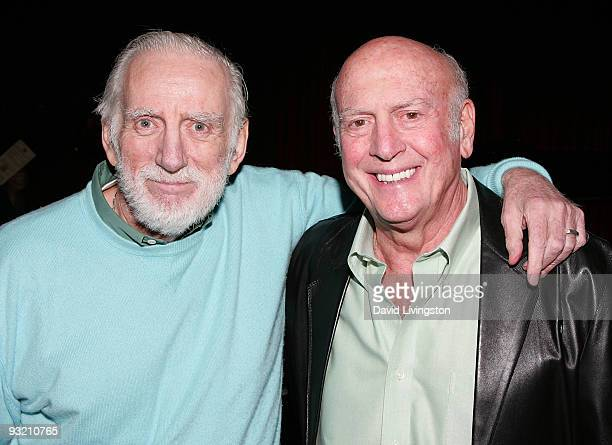 Poet/composer Rod McKuen and songwriter Mike Stoller attend ASCAP's reception honoring Marvin Hamlisch and Alan and Marilyn Bergman at the Catalina...
