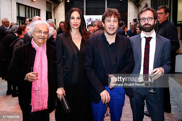 Poete Adonis Contemporary artist Adel Abdessemed with his wife Julie Abdessemed and Guest attend the 'Alaia' Azzedine Alaia Perfum Launch Party on...