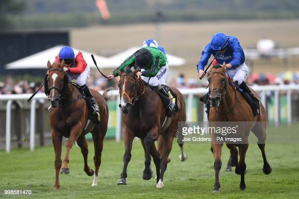 Poetic Charm ridden by James Doyle wins the Spa At Bedford Lodge Hotel British EBF Fillies' Handicap during day three of The Moet Chandon July...
