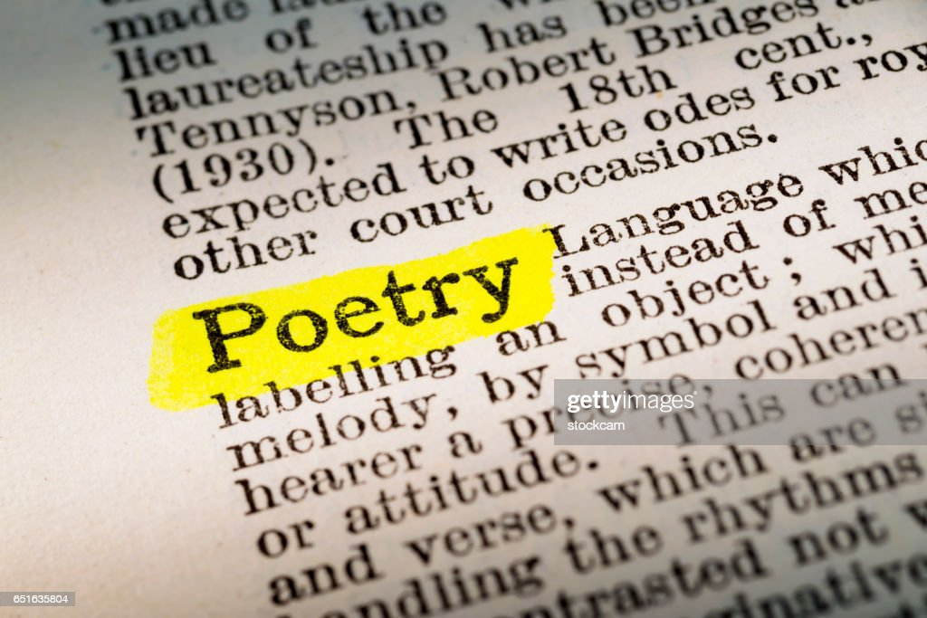 Poetry Dictionary Definition Highlighted Stock Photo Getty Images