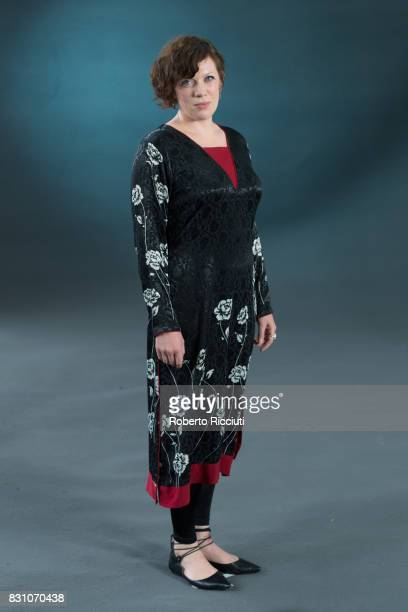 Poets and performer Rachel McCrum attends a photocall during the annual Edinburgh International Book Festival at Charlotte Square Gardens on August...