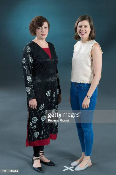 Poets and performers Rachel McCrum and Miriam Nash attend a photocall during the annual Edinburgh International Book Festival at Charlotte Square...