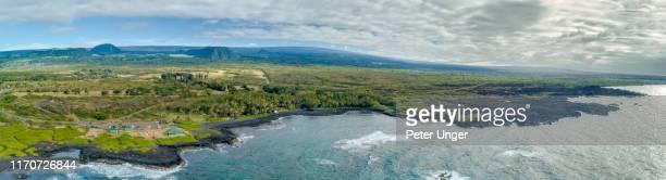 pohoiki black sand beach, pahoa,big island,hawaii,usa - media_in_honolulu,_hawaii stock pictures, royalty-free photos & images
