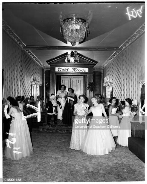 Poinsettia Ball 7 October 1953 Mrs Sidney G SonnelandMrs George C TylerMrs Harry A TantonMrs Sells C CookMrs Ross V ParksMrs Floyd K AndersonMrs...