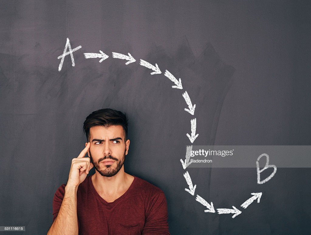Point A to Point B : Stock Photo