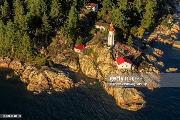 Point Atkinson Lighthouse on the scenic coastline of Vancouver, British Columbia, Canada