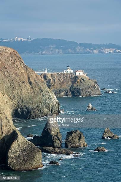 point bonita lighthouse - bonita thomas stock pictures, royalty-free photos & images