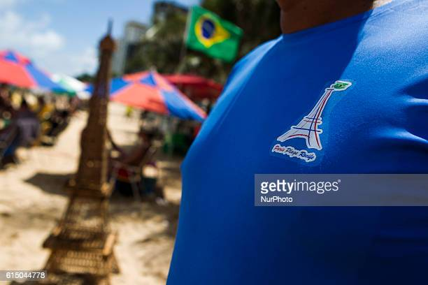 Point frequented by French tourists on the beach of Boa Viagem Recife in northeastern Brazil on October 16 2016 The beach is known internationally...