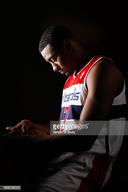 Point guard John Wall of the Washington Wizards poses for a portrait on November 5 2012 in Washington DC NOTE TO USER User expressly acknowledges and...